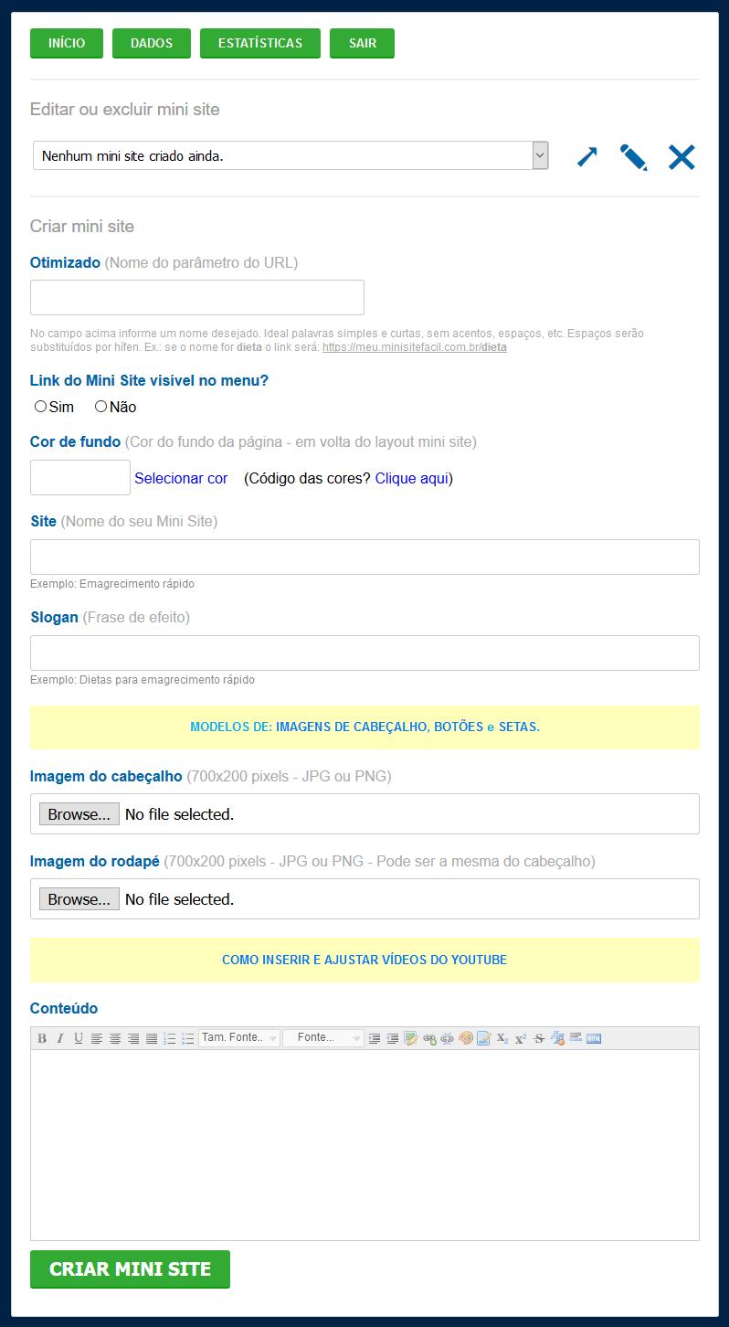 Mini Site Fácil